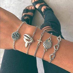 Jewelry - Beautiful boho style bracelet set of 5 NWT